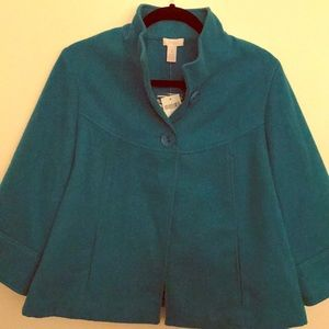 Teal Chico's Swing Coat